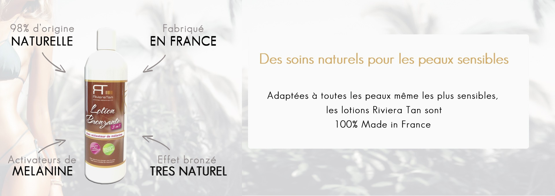 Lotion bronzante naturelle
