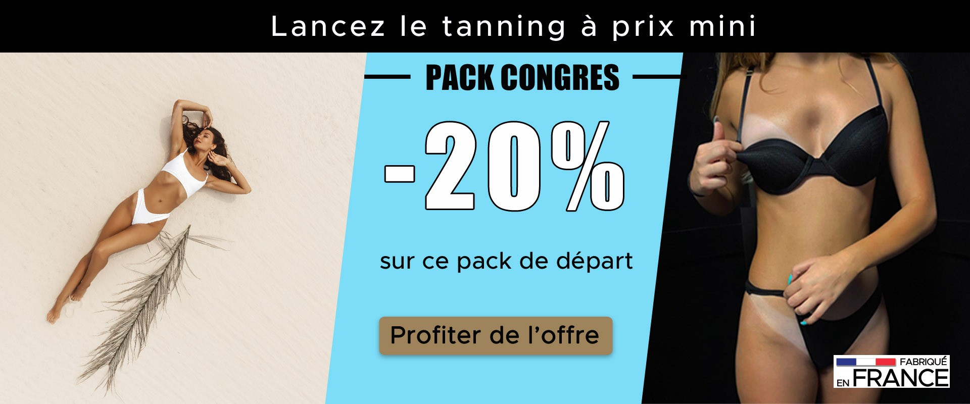 Pack tanning professionnel promo